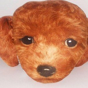 Golden Doodle Dog Pillow Plush Keepsake Brown Pupp